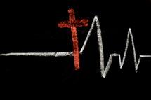 cross and heart monitor