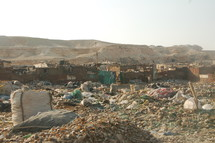 landfill and ruins in Egypt