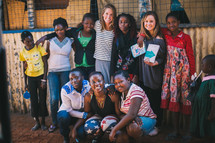 missionaries gathered amongst the people in Kenya