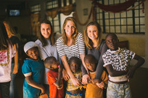 missionaries and children in Kenya