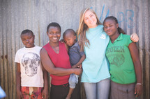 missionary with a family in Kenya