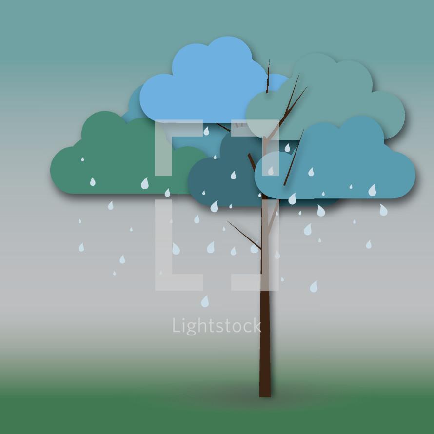raining tree