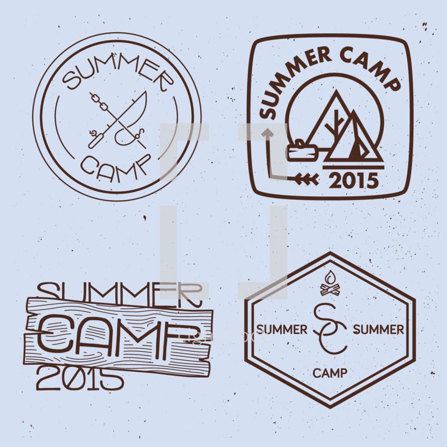 summer camp 2015 badges