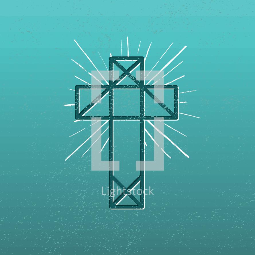 abstract cross illustration.
