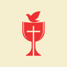 communion chalice and dove