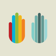 Colorful diversity hand icons.