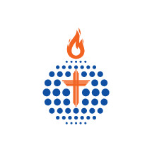 globe, tongue of fire, flame, cross, missions, logo, spirituality, icon