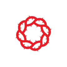 crown of thorns in red