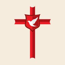 dove, cross, red, shield, icon, Christian
