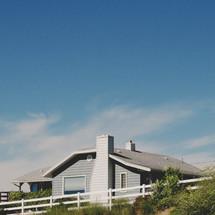 blue sky over a house