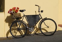 Bicycle with basket of flowers - Valentines Day
