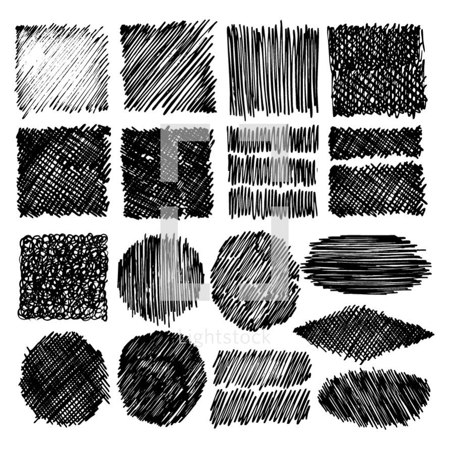 Backgrounds and textures drawn by pens, markers and liners for design designer postcards.