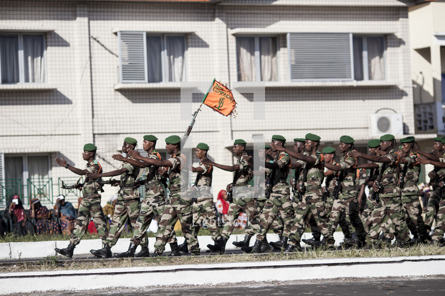soldiers marching in a parade