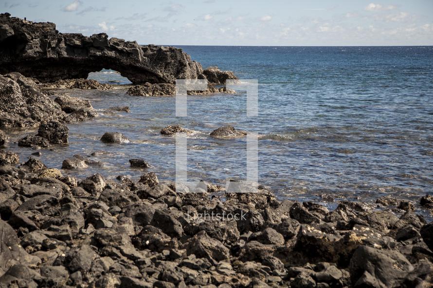 rocky shore on an African Beach