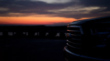 truck grill at sunset