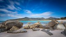 rocks along a beach