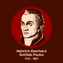 Heinrich Eberhard Gottlob Paulus (1761 - 1851) was a German theologian and critic of the Bible. He is known as a rationalist who offered natural explanations for the biblical miracles of Jesus.