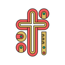 Church logo. Christian symbols. Cross of the Lord and Savior Jesus Christ.