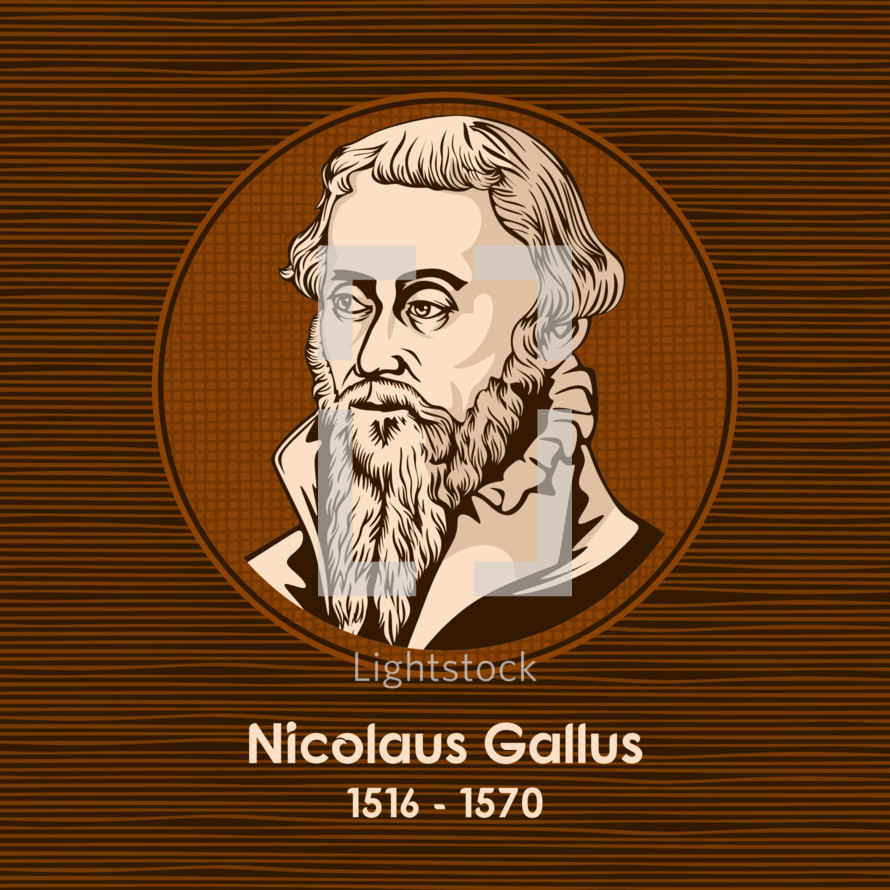 Nicolaus Gallus (1516 - 1570) was leader of the Lutheran Reformation in Regensburg.