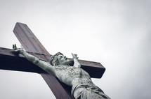 stone and wood crucifix