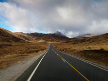 driving Lindis Pass