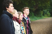 teens standing together outdoors
