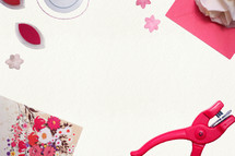 hole puncher, floral paper, crafts, paper, scrapbooking, paper, Valentines day