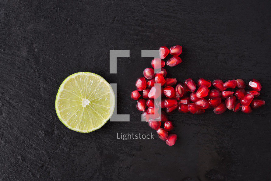lime and pomegranate