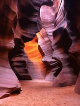 Path through boulders