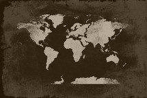 Grunge world map background.