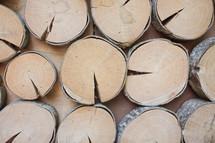 wood slices background