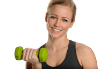 woman working out lifting weights
