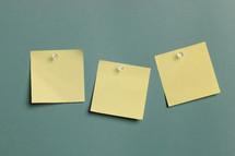 blank post it notes on a wall
