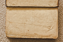 blank and wrinkled pages of an old book