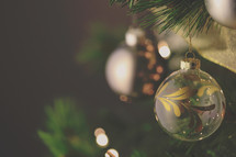 Christmas tree ornament sermon or social media photo background