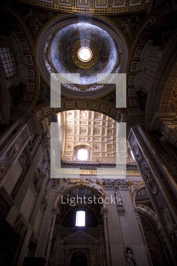 sunlight through a Cathedral dome