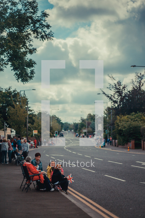 watching a parade