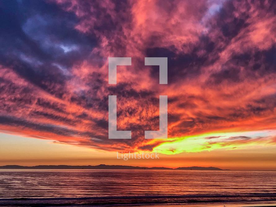 Huntington Beach, California at sunset