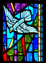 """One of my favorite verses is found in Luke 3:22 when it describes the Holy Spirit descending from Heaven like a Dove after Jesus was baptized. There is a stained glass window in my church that illustrates this verse and it always brings me great joy and peace to see it. When I think of the Holy Spirit, I think of peace, comfort and assurance that keeps us company and abides with us. """"and the Holy Spirit descended on him in bodily form like a dove. And a voice came from heaven: """"You are my Son, whom I love; with you I am well pleased. - Luke 3:22."""