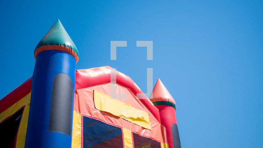 bounce house outdoors