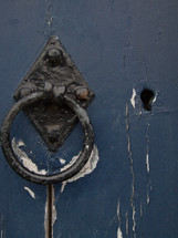 Rusted door knocker
