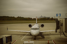 a plane on the tarmac