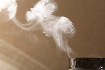 smoke from an extinguished candle
