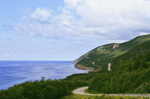 a winding seaside highway