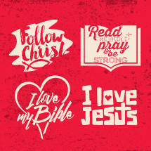 follow Christ, words, lettering, white, I love my Bible, heart, I love Jesus, Read the Bible, pray, be strong, cross