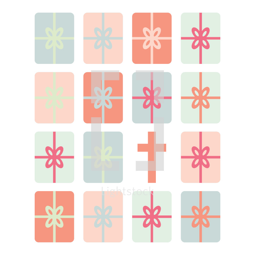 wrapped gift icons