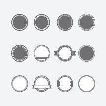 blank badges