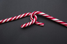 candy canes on a gray background