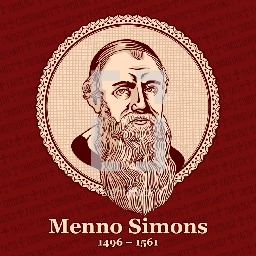 Menno Simons (1496 – 1561) was an outstanding leader of the Anabaptist movement in the Netherlands in the 16th century. His followers later became known as the Mennonites.