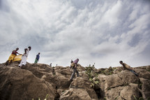 rock climbing in Ethiopia
